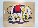 Fa puzzle 22x18 cm 12db-os ÚJ IGRA TOYS elefánt