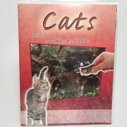 Kreatív matrica játék csináld magad mese jelenetek cica