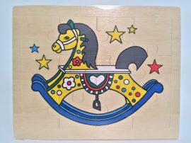 Fa puzzle 22x18 cm 12db-os ÚJ IGRA TOYS Hintaló