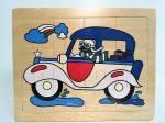 Fa puzzle 22x18 cm 12db-os ÚJ IGRA TOYS autó