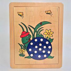 Fa puzzle 22x18 cm 12db-os ÚJ IGRA TOYS csiga