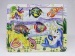 Fa puzzle 22x18 cm 12db-os ÚJ IGRA TOYS tengeri halak