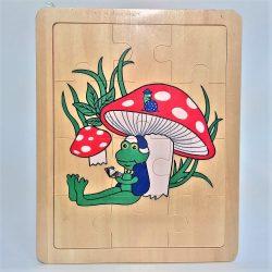 Fa puzzle 22x18 cm 12db-os ÚJ IGRA TOYS béka