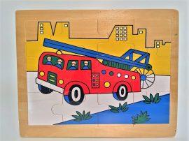 Fa puzzle 22x18 cm 12db-os ÚJ IGRA TOYS tűzoltó
